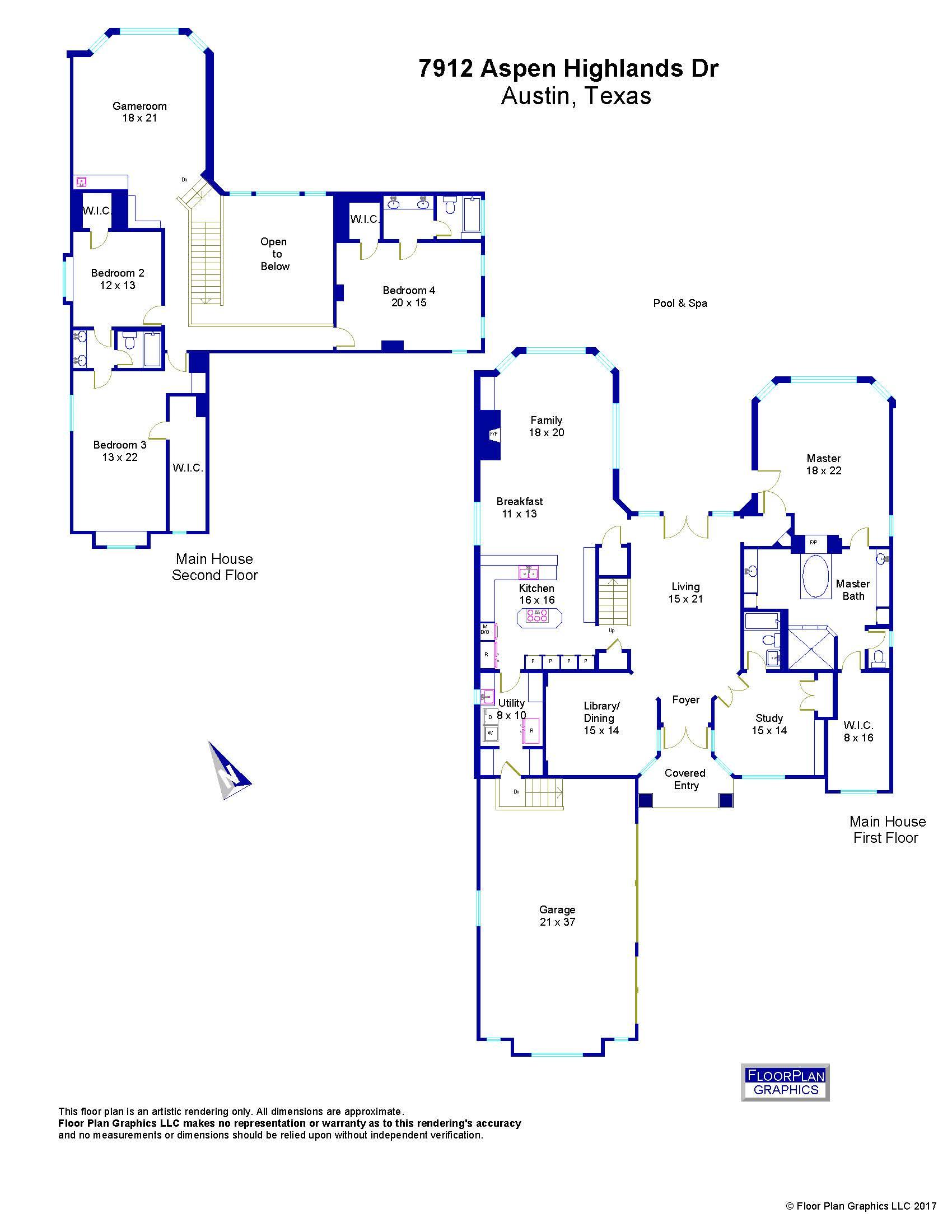 7912 aspen highlands dr floor plan survey
