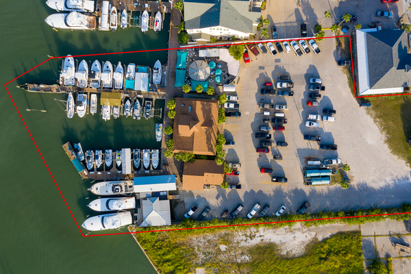 Agent woodys aerial close up property boundary
