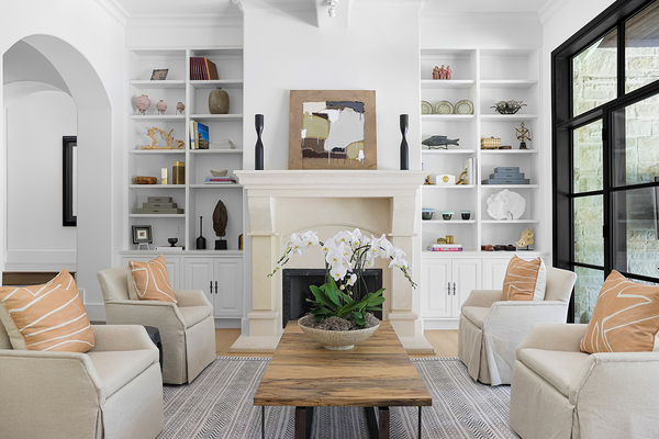 Agent living fire place